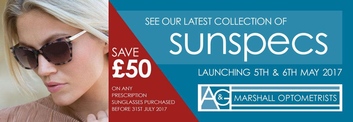 £50 off sunglasses promotion - A G Marshall Optometrists Cramlington