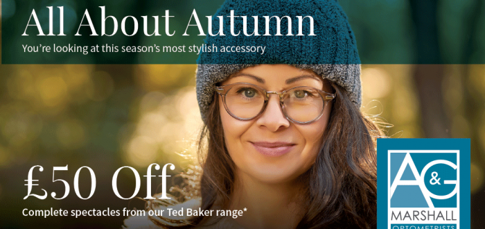 Autumn offer at A G Marshall Optometrists, Cramlington